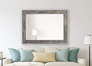 Hitchcock Butterfield Antique Weathered Grey Framed Coastal Wall Mirror, 29.75