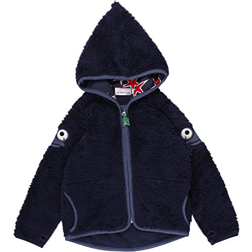Fred's World by Green Cotton Baby-Unisex Star Fleece Jacket Jacke, Blau (Navy 019392001), 92 (Herstellergröße: 92/98)