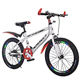 N&I Bicycle High Carbon Steel Bicycle Mountain Bike Student 20-20 inch Male and Female Single Speed Shock-Absorbing Bicycle A 20Inch D 20inch