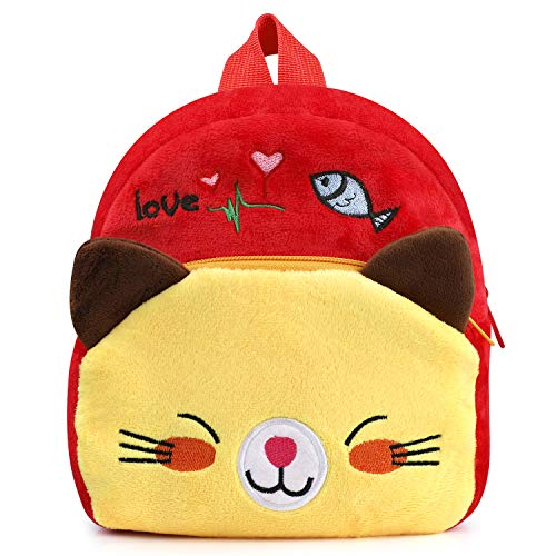 Baby Kinder Rucksäcke, Plüsch Material Kindergarten Schultasche Schöne Karikatur Spielzeugtasche Bequemer Rucksack für Kleinkind Kind