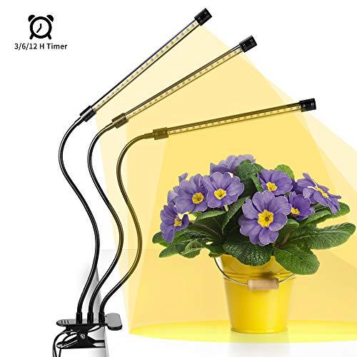 Anten LED Pflanzenlampe Vollspektrum mit 60 LEDs, Zeitschaltuhr, Pflanzenlicht LED Wachstum, dimmbare Pflanzenleuchten, LED Pflanzenlicht geeignet für Zimmerpflanzen, Gartenarbeit, Gewächshaus usw.