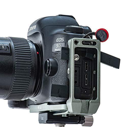 2019 Stabil LC5 – Placa L (soporte) compatible con Canon 5D Mark II/ 5D Mark III/ 5D Mark IV/5DS/5DSR : Titanio