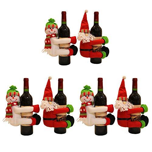 WyaengHai Kerstfles Cadeautas Kerstman Sneeuwman Fles Voor Een Familie Aan De Keuken Tafel Versierd Hotel Bar Magnum Rack Kerstmis Wijnfles Tas