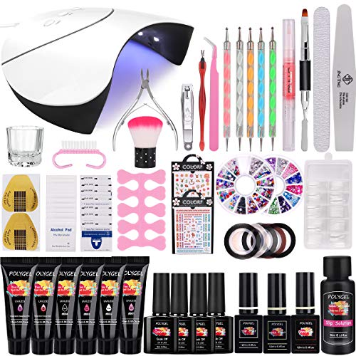 36W Lámpara Kit Uñas de Gel Completo, MYSWEETY Kit de