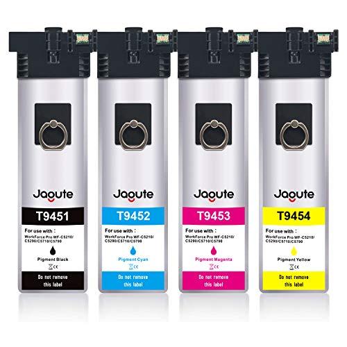 Jagute T9451 - T9454 Cartucce d'inchiostro Sostituzione per Epson T9451 T9452 T9453 T9454 9451 per Epson WorkForce Pro WF-C5710 WF-C5790 C5210 C5290 WF-C5710DWF WF-C5790DWF WF-C5210DW WF-C5290DW