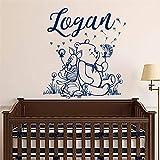 Stickers Muraux Winnie L'Ourson Personnalisé Nom De Garçon Art Pour La Décoration De La Chambre Des Enfants...