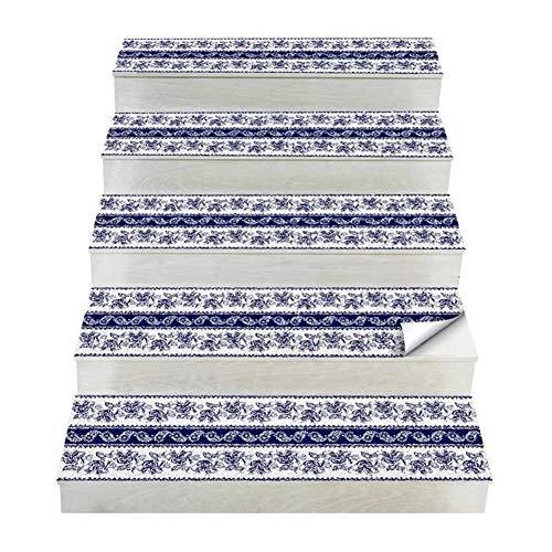 Nuevo 5 piezas de diseño de mosaico de azulejos de la escalera de la pared autoadhesivo impermeable PVC etiqueta de la pared de cocina de cerámica pegatinas decoración del hogar 25 * 100 cm Pintura
