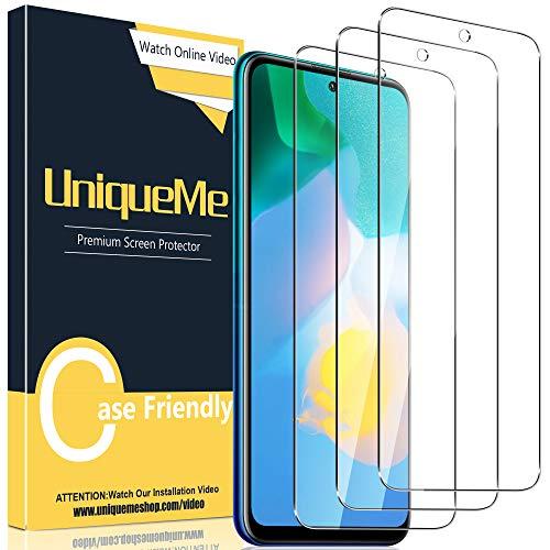 UniqueMe [3 Stück] Schutzfolie Kompatibel mit Huawei P Smart 2021 Panzerglas mit Installationswerkzeug, [Einfache Installation] Gehärtetem Huawei P Smart 2021 Bildschirmschutzfolie.