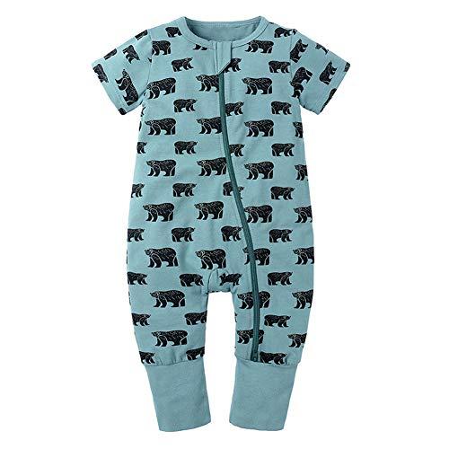 Happy Cherry Baby Sommer Schlafsack mit Füßen Spielanzug Jungen Mädchen Säugling Schlafanzug Baumwolle Pyjamas Overall