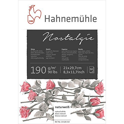 Creative Hahnemühle Skizzenblock Nostalgie DIN A4, 50 Blatt