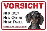 Rainbow-Print Schild - Vorsicht Kurzhaar Dackel Mein Haus (20x30cm) thumbnail