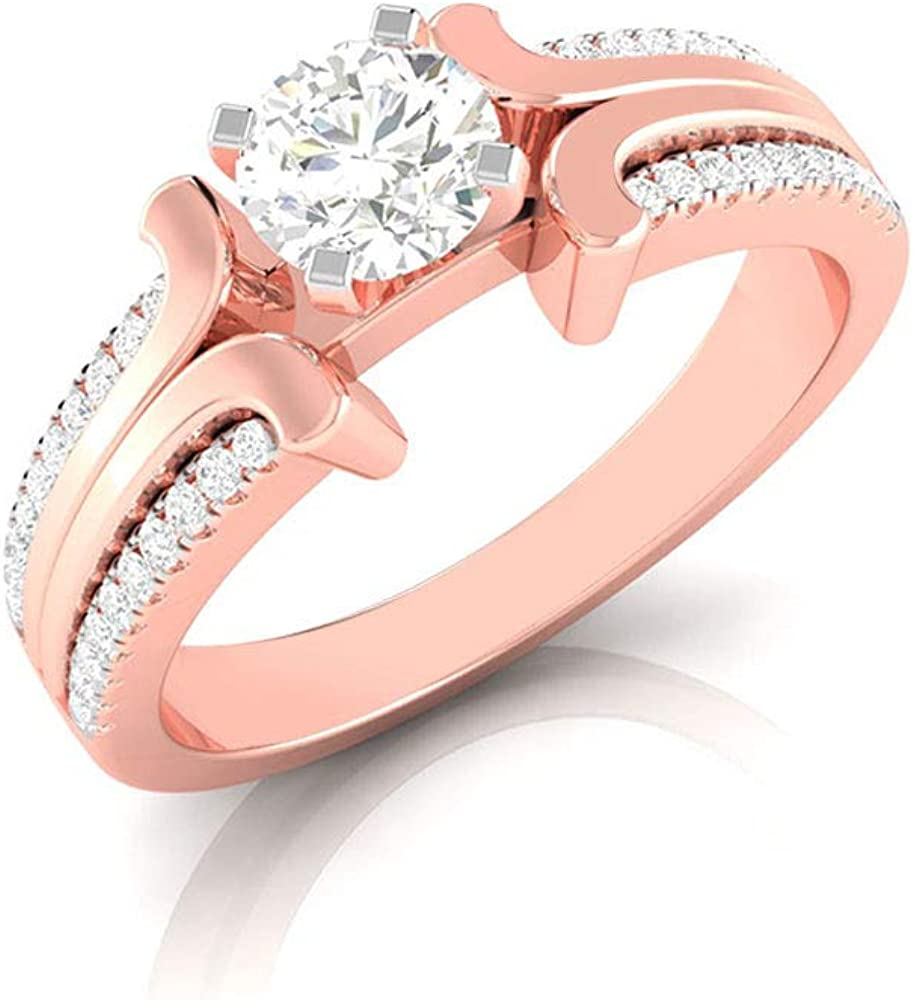 Sacramento Mall 1 2 Diamond Ring for Engagement S Women Max 87% OFF Solitaire