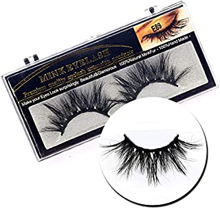 2Box/Lot 3D Real Mink 25mm Long False Eyelashes LASGOOS Luxurious Fluffy Messy Cross Light Weight Dramatic Fake Eye Lashes Makeup Set (E89)