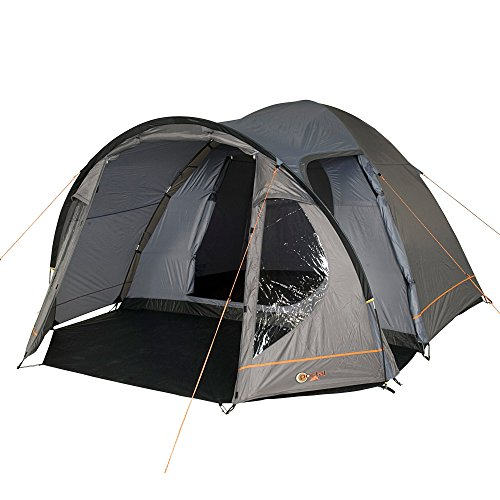 Portal Outdoor Delta Dome Tent and Carry Case, Sleeps Up To 5, Waterproof with A Separate Bedroom