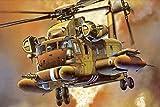 Extmnj DIY 5D Pintura de Diamante,helicóptero Militar 5D Art Full Drill Adultos Pintura Rhinestone Bordado,Arte Regalo para la Decoración de la Pared del Hogar (30x40cm)