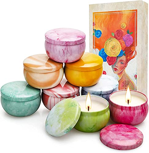 Yinuo Mirror Velas Aromaticas Decorativas,8*2,5 Oz Velas Perfumadas,Regalos Originales para Mujer,Viaje Adecuado para Yoga Baño Dormitorio