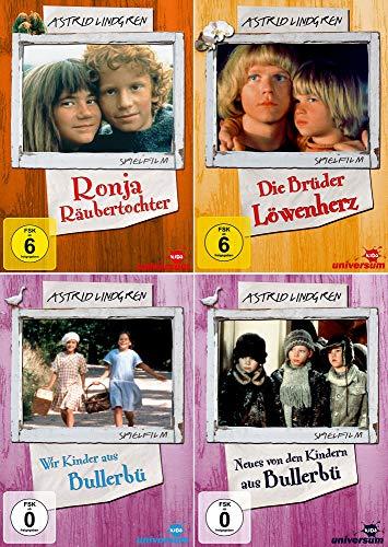 Astrid Lindgren Edition: Ronja Räubertochter - Spielfim + Die Brüder Löwenherz + Wir Kinder aus Bullerbü + Neues von den Kindern aus Bullerbü [4er DVD-Set]