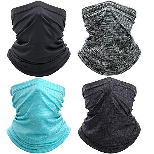 OUTOWIN 4 Stück Sturmmaske für Motorrad Fahrrad Laufen Radfahren Klettern (Schwarz, Grau, Dunkel grau, Blau)