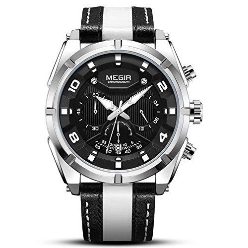 Relojes luminosos para hombre, reloj con cinturón impermeable 3ATM, reloj cronógrafo deportivo analógico de cuarzo de 47 mm con fecha automática, relojes de pulsera analógicos militares para hombres