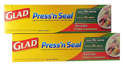 Glad Press 'n Seal Wrap (2-Pack, 140 sq. ft. each (Total 280 sq. ft.)) by Glad