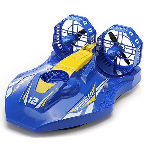 Toys Hobbies TKKJ A1 2.4G 4CH RC Twin-Propeller Hovercraft EP Amphibious Boat with Double Motors RTR Model