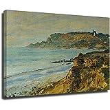 Cliff-at-sainte-adresse Claude Monet famosas pinturas al óleo Reproducción Lienzo Abstracto Moderno ...