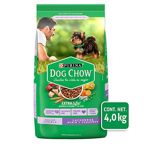 Dog Chow Comida para Perro Cachorro Minis y Pequeños con Extralife 4 Kg