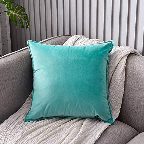 DAOXU 50x50 Fodera per Cuscino in Velluto da Letto Federa 2 Pezzi Divano Decorativo e Federa per Divano (Azzurro Chiaro, 50x50cm(2pk))