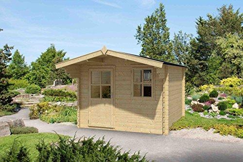 Gartenhaus G191-28 mm Blockbohlenhaus, Grundfläche: 4,70 m², Satteldach