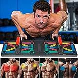 Push Up Board, Planche de push-up pliable 12 en 1 avec poignée, planche de...
