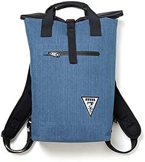 日用品 防水熱着加工トート&ロールトップリュック2WAYバッグ デニムブルー