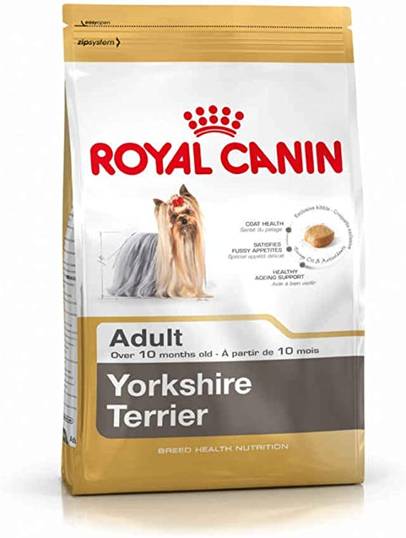RoyalCanin Yorkshire Terrier Adult 0.5 kg | Pienso para Alargar la Vida de tu Perro Retrasando el Envejecimiento | Fortalece Defensas, Evita la ...