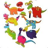 Buddy & Barney- Dinosaurs Pegatinas Dinosaurios extraños y Maravillosos bebés de 1, 2, 3, 4 y 5 años de Edad Divertido Juguete de baño niñas (BB169)