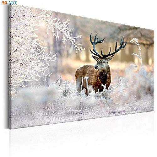 Nature Poster Deer Art Print Forest Landscape Canvas Painting Wall Art Wall Painting Home Decor A 60x40cm