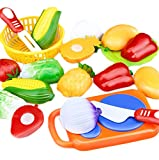 Leisial™ 12 Stücke/Set Kinder Rollenspiele Küchen Kinder Schneiden Gemüse Frucht Spielzeug Kunststoff Küche Essen Kinder Küche Spielzeug