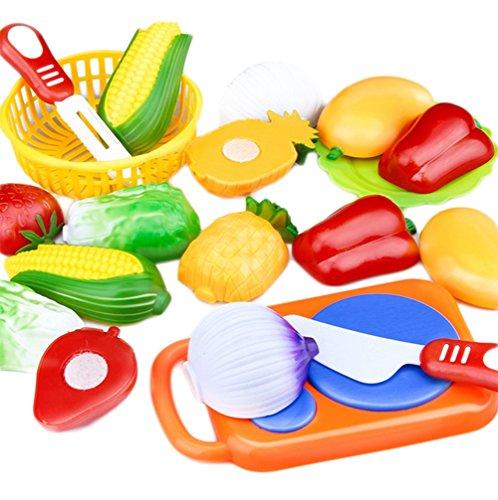 JUNGEN Jeu D'imitation Coupe Fruits Légumes Jeu enfants Kid Jouet éducatif a Decouper de Cuisine Pizza a Decouper pour les Enfant Bébés a la Maternelle école 1pc
