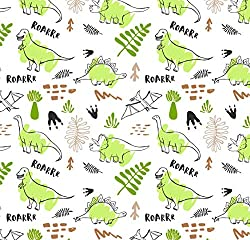 5. Stesha Party Green Dinosaur Wrapping Paper Sheets