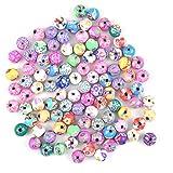 Cuentas de Arcilla Polimérica 100 Piezas 10 mm Color Redondas Abalorios a Granel Hechas a Mano Cuentas de Cerámica para Hacer Joyas Collar de Pulsera