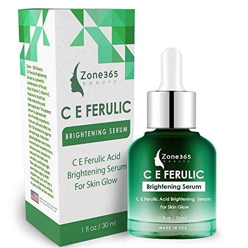 ZONE – 365 Brightening Serum; Hyperpigmentation Treatment; With Vitamin C, E, Ferulic, and Hyaluronic Acid; 1 fl oz