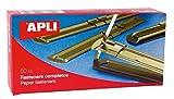 APLI 11831 - Fásteners metálicos dorados 90 x 12 mm 50 u....