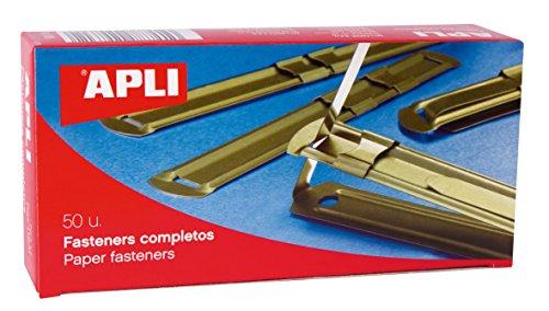 APLI 11831 - Fásteners metálicos dorados 90 x 12 mm 50 u.