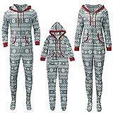 Alueeu Pijamas de Navidad Familia Dos Piezas Top Manga Largo+ Pantalones a Juego Hombre Mujer Niños Niña Chica Baby Romper Set Ropa de Dormir Homewear