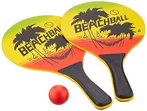 Solex 43335 - Set di Due Racchette da Spiaggia e Palla, 40 x 23 x 4 cm, Colore: Multicolore