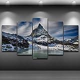 sanzx Leinwand Hd Print Bild Wohnkultur 5 Stück Zermatt