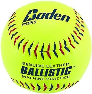 Baden Sports Ballistic Leather Pitching Machine Softball - Set of 12