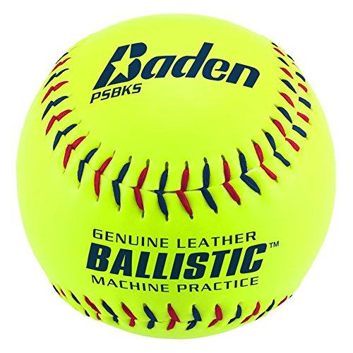 "Baden Ballistic Leather Pitching Machine Softball 12"" (One Dozen)"