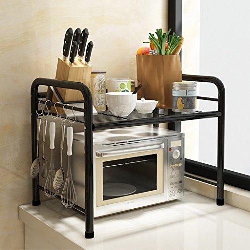 KLEDDP Küche Regalboden Mikrowelle Ofen Rack Topf Rack Edelstahl Multilayer Lagerregal Regal (Size : 55 * 35 * 50cm)