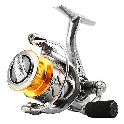 SKYSPER Carretes de Spincasting Carretes de Pesca 10 + 1BB Pesca Spinning Carrete Sistema de Fibra de Carbono Arrastre de Mar Agua Salada