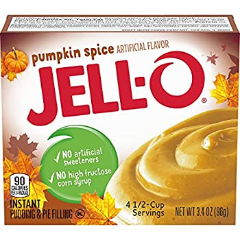 Kraft Jell-O Instant Pudding & Pie Filling Pumpkin 3.4-Ounce Boxes  Pack of 24