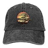 XCNGG Bonsai Tree Karate Dojo Unisex Sombreros de Vaquero Deporte Sombrero de Mezclilla Gorra de béisbol de Moda Negro